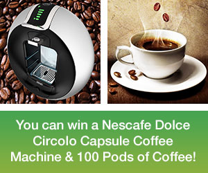 Win a Nescafe Dolce Coffee Machine